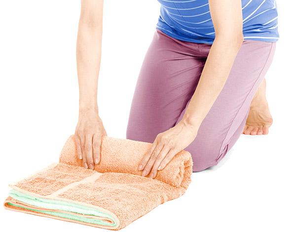 画像3: 骨盤枕のやり方
