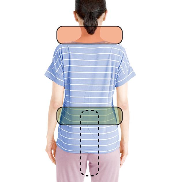 画像6: 首腰枕のやり方