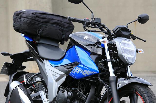 画像2: スズキ新型『ジクサー150』は積載テクニックだけでロングツーリング対応型バイクに化けるんです!