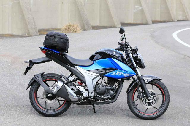 画像3: スズキ新型『ジクサー150』は積載テクニックだけでロングツーリング対応型バイクに化けるんです!