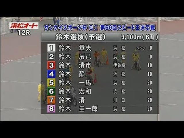 画像: 鈴木選抜(予選)浜松オート第60回G1スピード王決定戦 初日 www.youtube.com