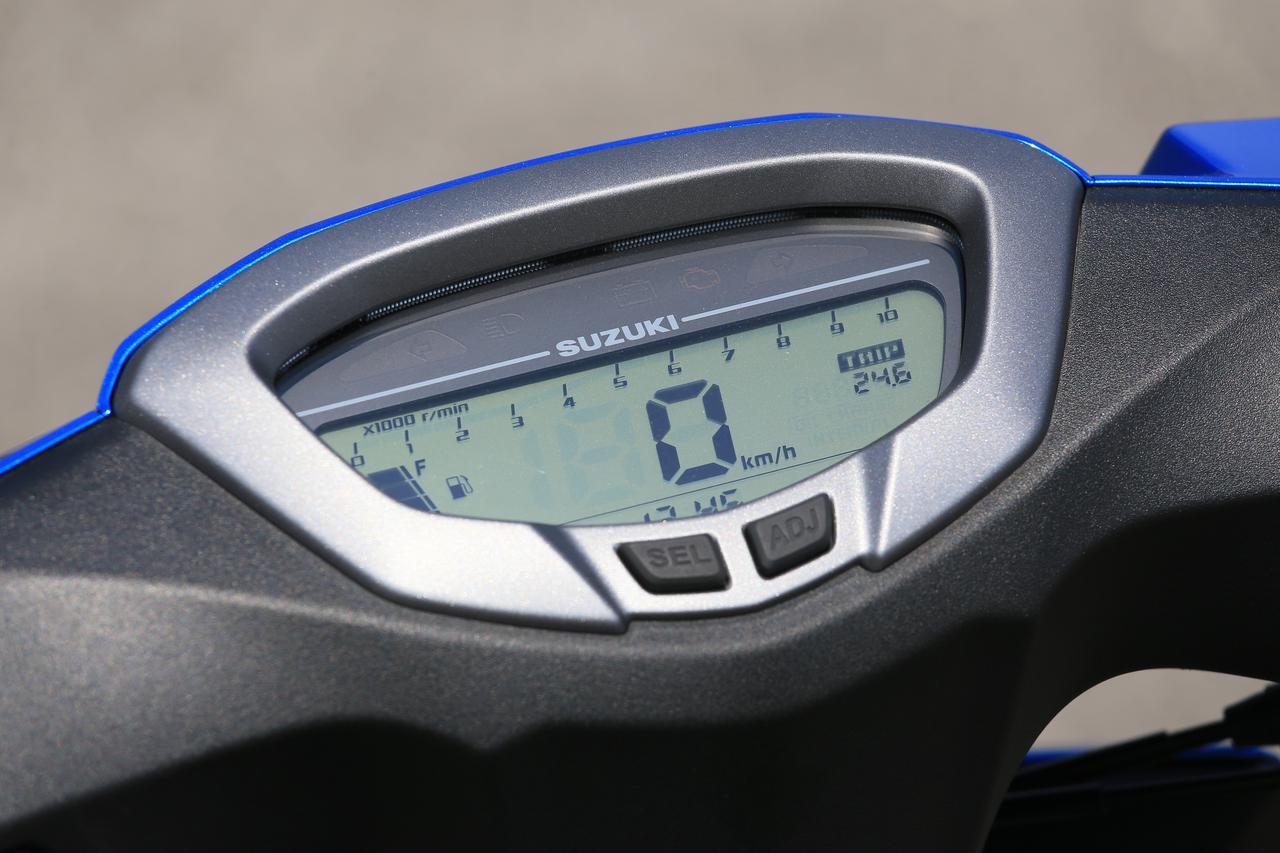 画像: 液晶デジタルメーターを採用