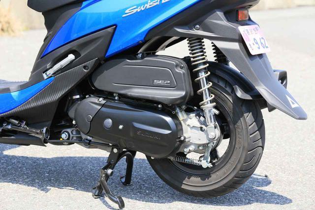 画像2: 前後10インチホイールの圧倒的軽快さ! この原付二種/125ccスクーターは通勤・通学だけじゃもったいない!?【穴が空くまでスズキを愛でる/スウィッシュ 試乗インプレ②】