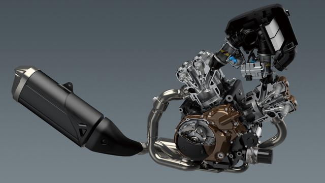画像1: Vストローム伝統のエンジンが……