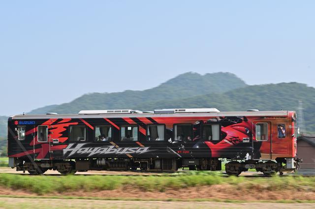 画像: 若桜鉄道が『隼ラッピング電車』のペーパークラフトを無料配布中
