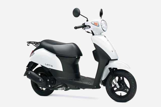 画像3: スズキ原付50ccスクーターの3機種ぜんぶ知ってる? おすすめの50ccバイクはどれ?【穴が空くまでスズキを愛でる/レッツ 試乗インプレ①】