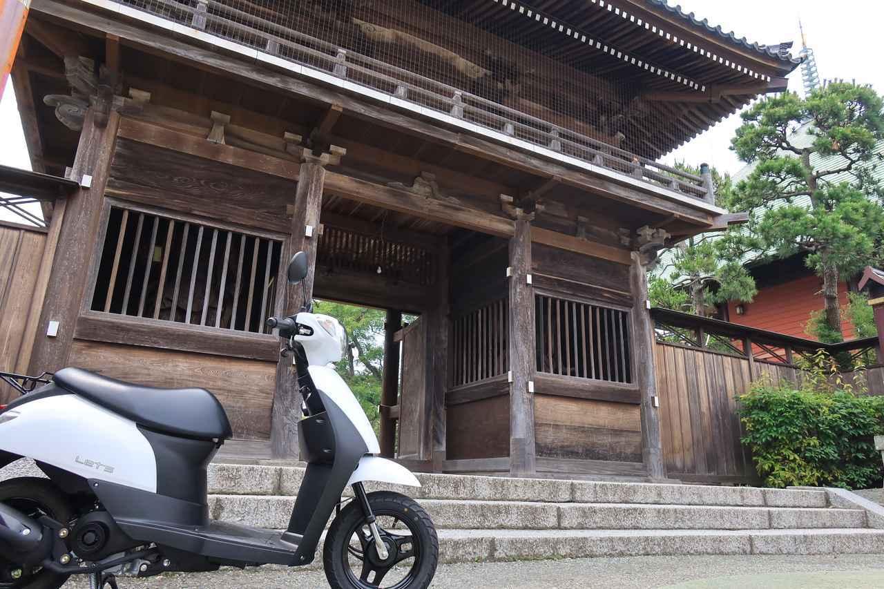 画像: 本覚寺にて。