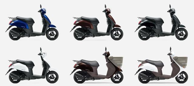 画像: スズキの50cc原付スクーター『レッツ』 2020年モデルのカラーはどれが好き? - スズキのバイク!