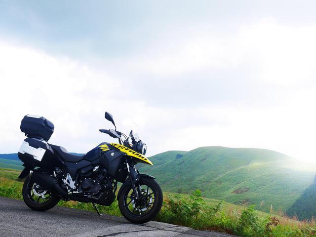 画像1: Vストローム250の純正パニアにバイクキャンプ荷物を満載!