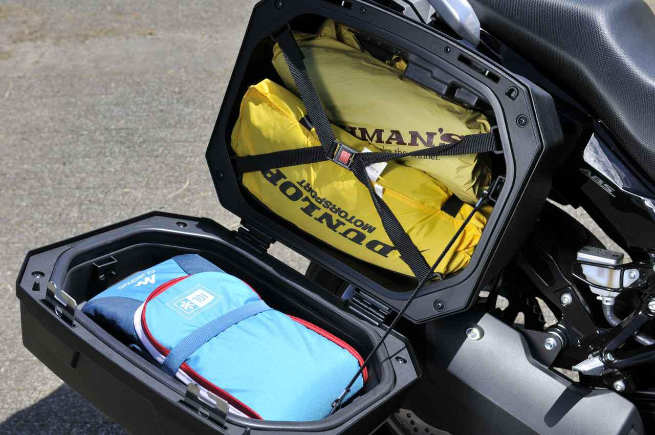 画像6: スズキ『Vストローム250』でバイクキャンプ用品を満載してみる!