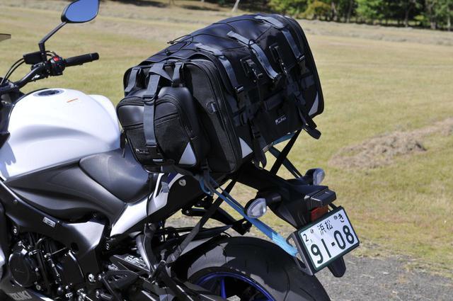 画像2: 大型ツーリングバッグはスズキ『GSX-S1000F』に積めるのか?