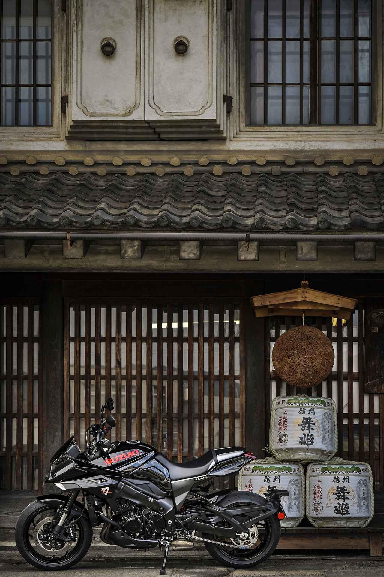 画像1: 高性能な大型バイクだけどスズキの新型『カタナ』の本質はそこじゃない? 燃費や航続距離も測ってみたけれど…… 【SUZUKI KATANA/ツーリングインプレ後編】