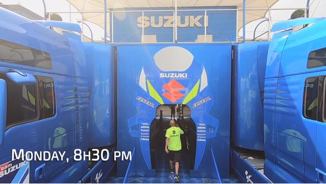 画像: MotoGP『チーム・スズキ・エクスター』の要塞?