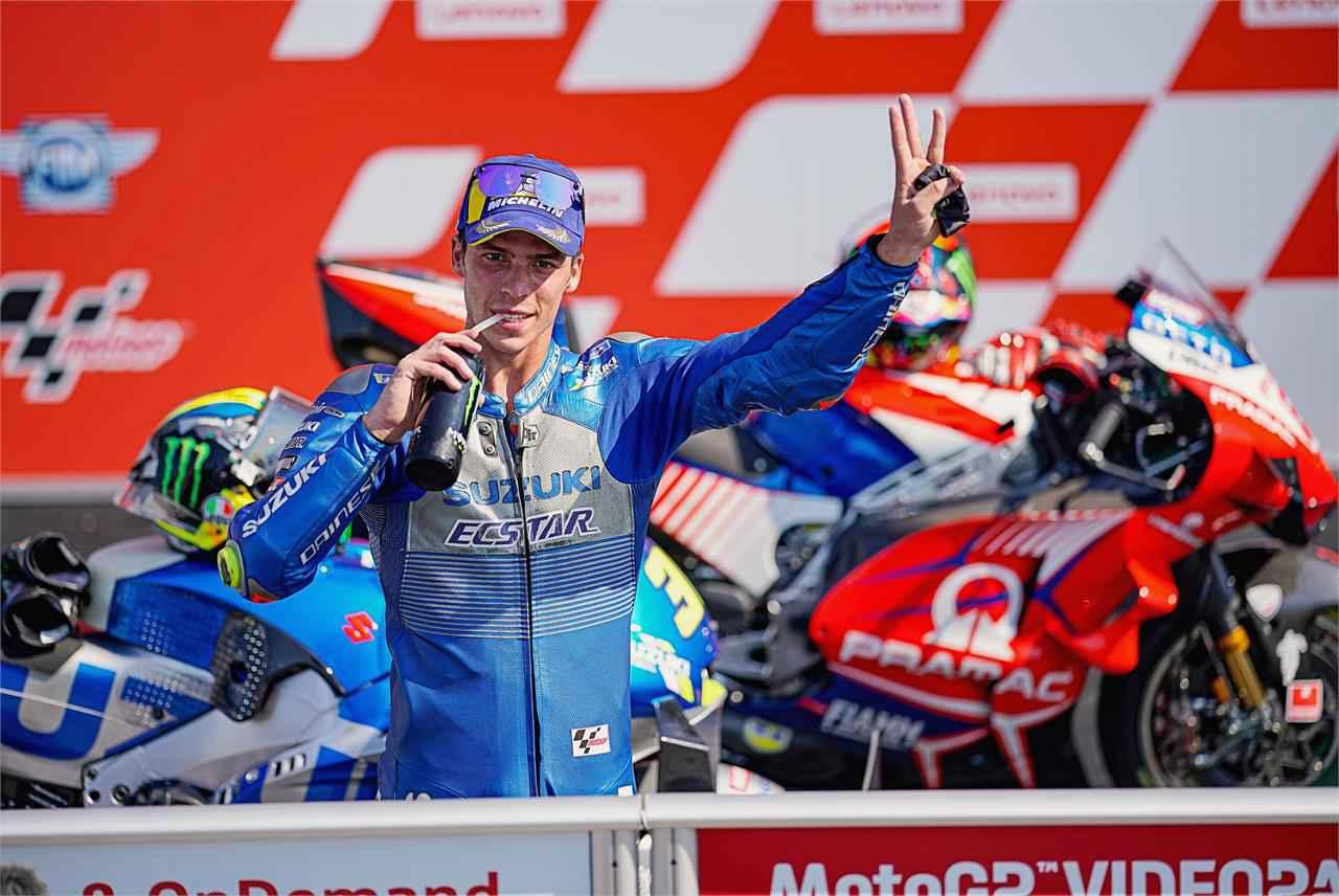 またもや表彰台! 最近、スズキのモトGPマシンが『安定して速い』ように思えるのですが…… 【100%スズキ贔屓で楽しむバイクレース④/MotoGP】