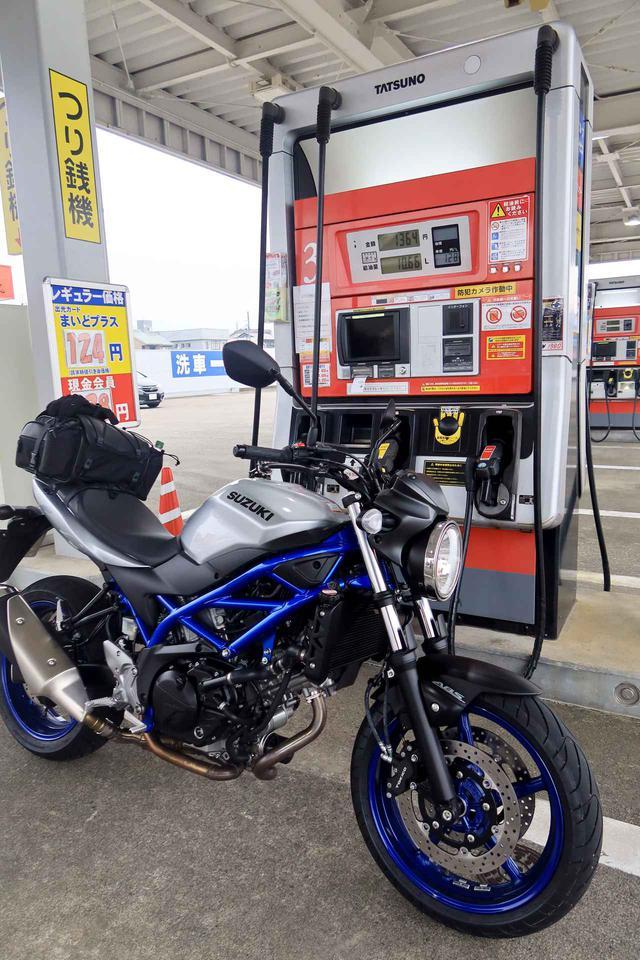 画像: 燃費は21.6km/Lだった。231km走って10.66Lの給油。ほぼ高速道路の走行。SV650の油種はレギュラー。