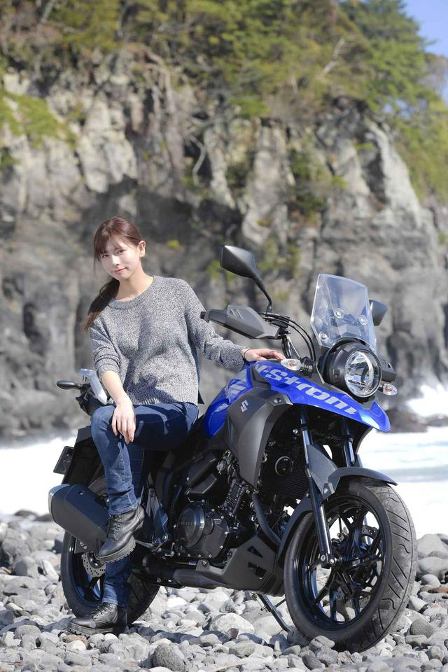 画像: Vストローム250×葉月美優【スズキのバイク!とバイク女子のPHOTO GRAVURE/SUZUKI V-Strom250】