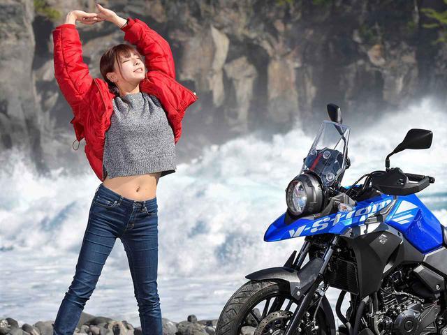 画像1: 葉月美優とVストローム250【PHOTO GRAVURE】
