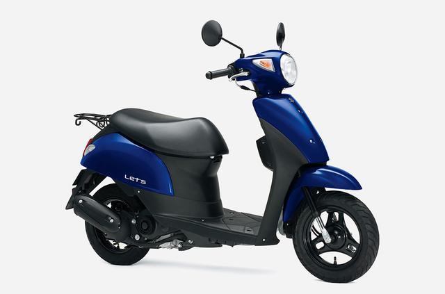 画像2: 新車が16万円台で買えて燃費も抜群のおすすめ50ccバイク! かわいい系原付スクーターで最高コスパのスズキ『レッツ』にお洒落ベージュが追加!
