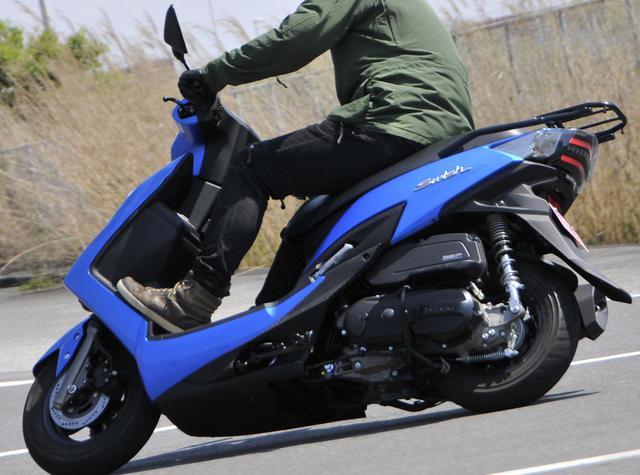 画像: 前後10インチホイールの圧倒的軽快さ! 125ccスクーター『スウィッシュ』は通勤・通学だけじゃもったいない!? - スズキのバイク!