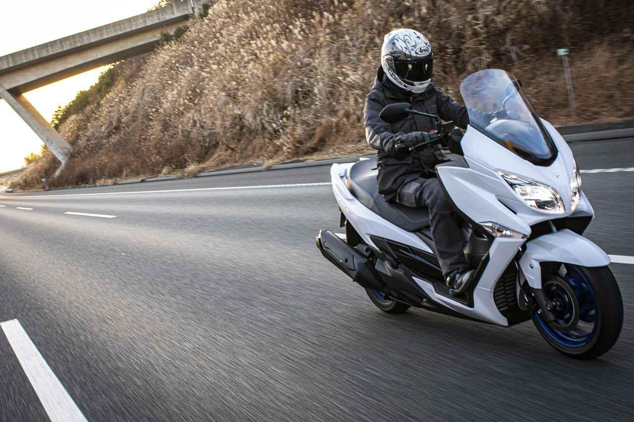 画像1: バーグマン400の高速道路は極楽すぎる