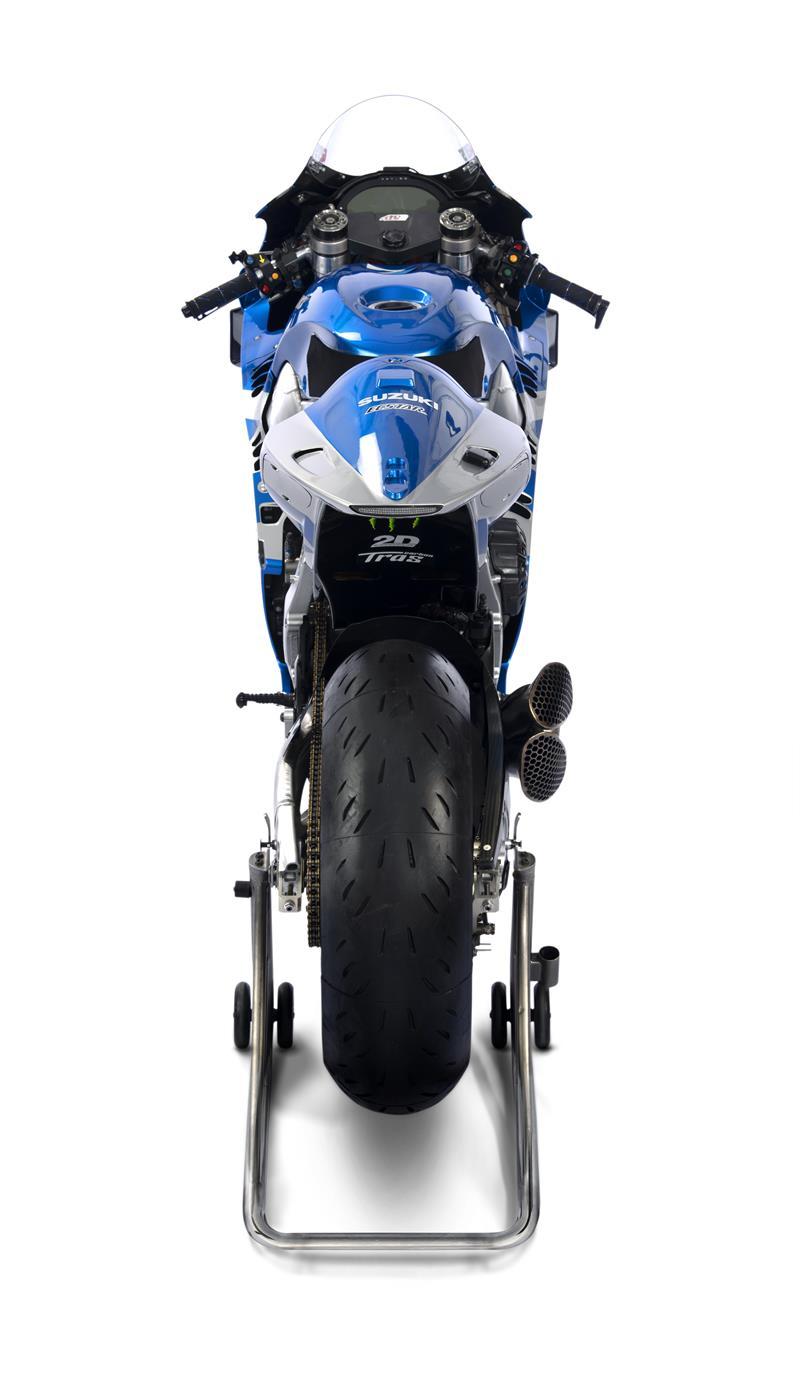 Images : 14番目の画像 - 「最高出力240馬力以上! スズキがモンスターエナジーとタッグを組んだ新型『GSX-RR』を初公開。全方位じっくりお見せします!【100%スズキ贔屓のバイクレース⑭/MotoGP 2021】」のアルバム - スズキのバイク!- 新車情報や最新ニュースをお届けします