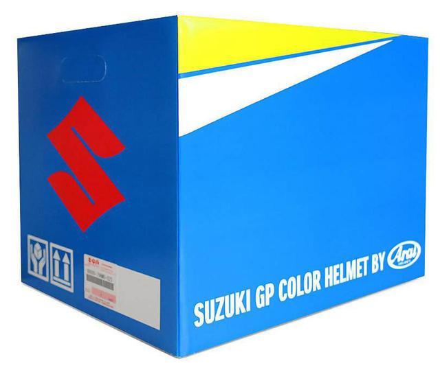 画像3: 【用品】100周年記念カラーの『GSX-R1000R/GSX-R125』に乗ってる人は特に注目! MotoGP『チーム・スズキ・エクスター』のライダーなりきりヘルメットです 【寝ても覚めてもスズキのバイク!/GPカラー ヘルメット 編】