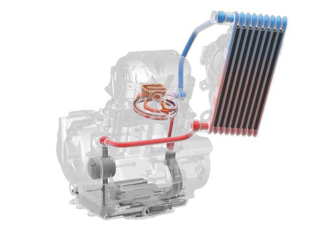 画像2: スズキ独自の冷却システム「油冷エンジン」の復活
