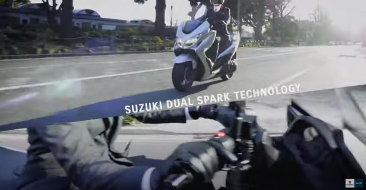 画像1: 新型バーグマン400はツインプラグ&トラクションコントロールを新採用!?