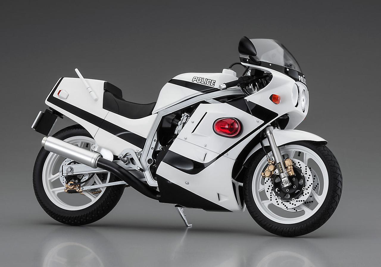 画像1: アニメに登場する『GSX-R750』の白バイがプラモデル化!