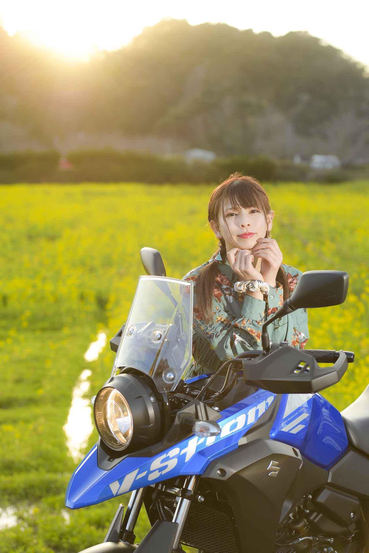 画像: 葉月美優×Vストローム250【PHOTO GRAVURE/SUZUKI V-Strom250】 - スズキのバイク!
