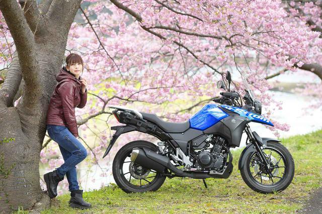 画像: 葉月美優×Vストローム250②【PHOTO GRAVURE】 - スズキのバイク!