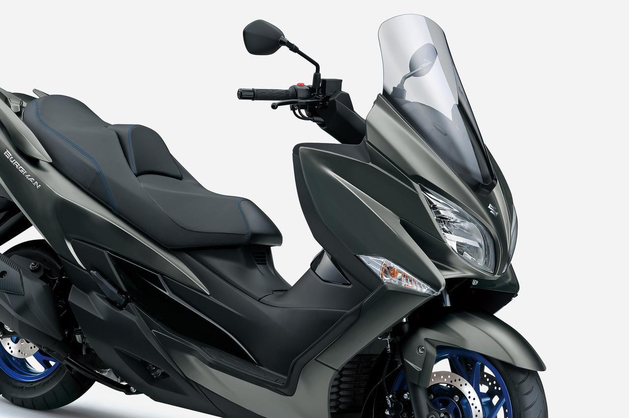 画像: 【2021年モデル】400ccのスズキ『バーグマン400』がツインプラグ化&電子制御で進化。250ccや125ccスクーターとは完全に別路線のツーリングバイクです! - スズキのバイク!