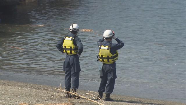 画像: 静岡・沼津市の水難事故現場