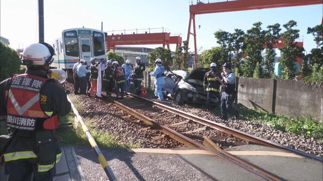 画像: 列車と乗用車が接触、車の運転手が重体か 天竜浜名湖鉄道のダイヤに乱れ 静岡・掛川市