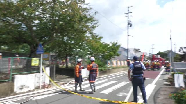 画像: 掛川市の火災現場付近