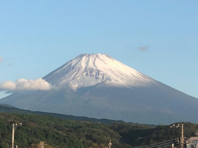 画像: 静岡・裾野市から見た富士山 午前6時過ぎ