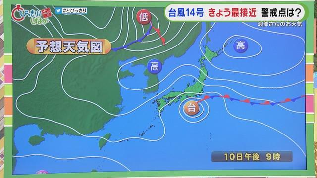 画像: 【台風14号 静岡】伊豆の石廊崎で最大瞬間風速が26.5メートル 多いところで1時間40ミリの雨