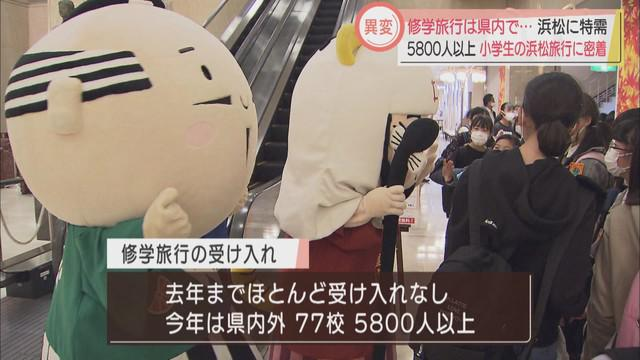画像1: 修学旅行は静岡県内で…浜松市に特需 去年まで「ほとんどなし」から、今年は5800人以上