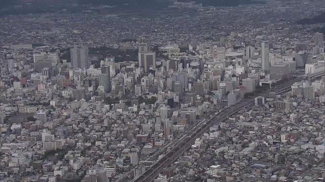 画像: 上空から撮影した静岡市