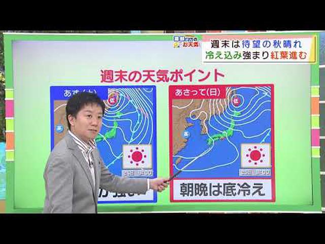 画像: 【10月23日 静岡】渡部さんのお天気 週末は「さわやかな青空」 youtu.be