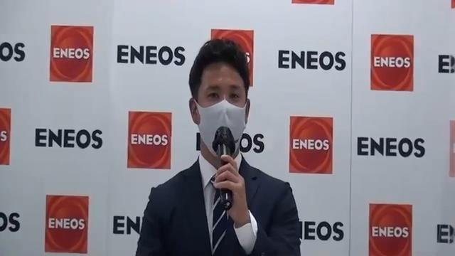 画像: 指名をうけオンラインで会見する藤井選手