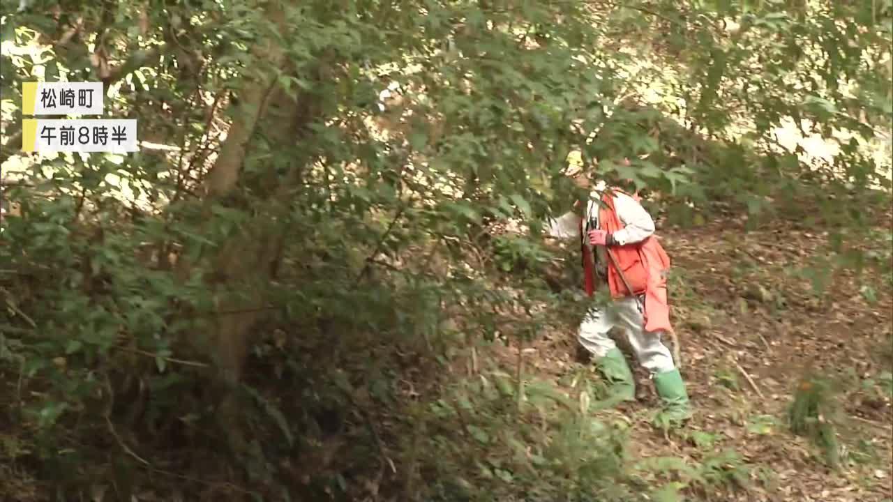 画像: 狩猟で山に入ったハンター