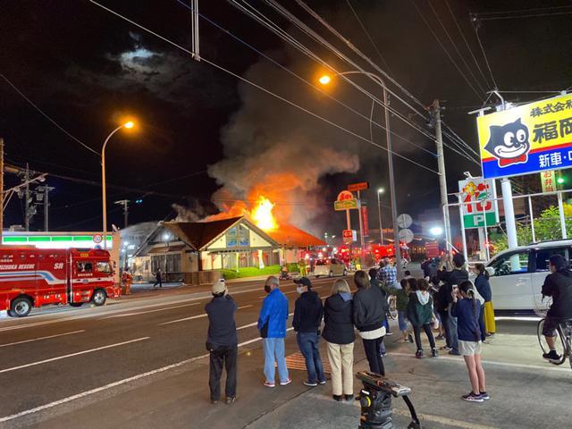 画像: 炭焼きレストランさわやか静岡インター店で火事
