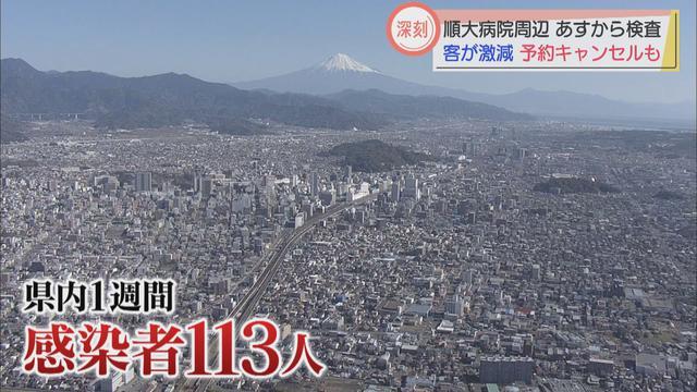 画像: 静岡県直近1週間で113人の新規感染「まん延期に相当」