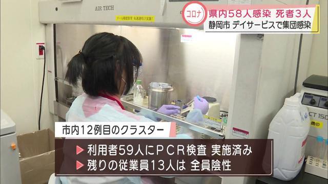 画像: 静岡県内で58人が新たに感染 静岡市と浜松市で合わせて3人が死亡 youtu.be