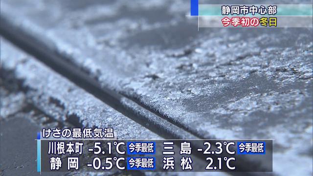 画像: 震える寒さ静岡で今シーズン初めての冬日 youtu.be