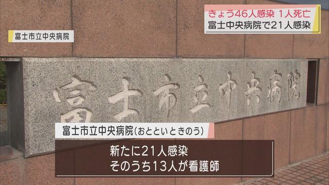 画像: 【新型コロナ】静岡県内46人感染…富士市17人、浜松市10人など 富士市立中央病院でも2日間で21人 youtu.be