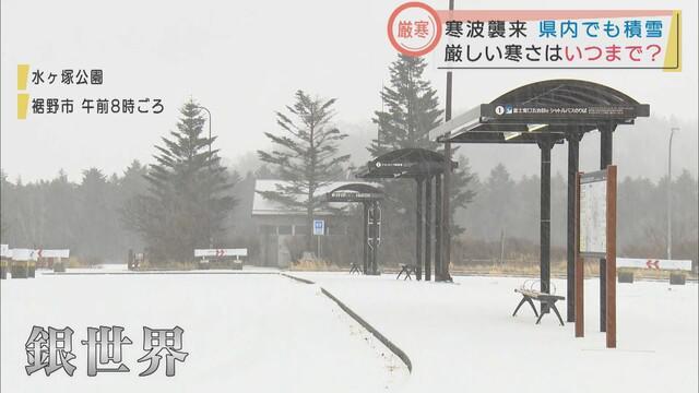 画像1: 家の屋根も真っ白に…静岡県で積雪 静岡市井川と御殿場で-2.2℃