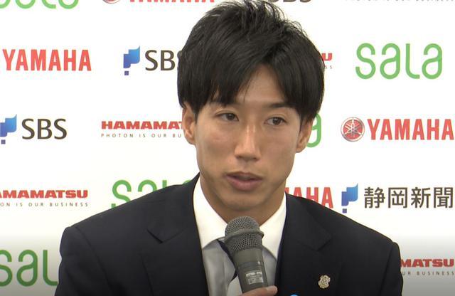 画像: J2磐田の新体制発表会見に出席したFW大津祐樹