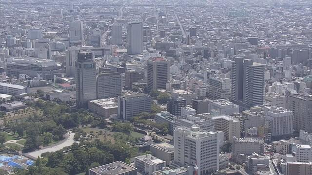 画像: 静岡市上空